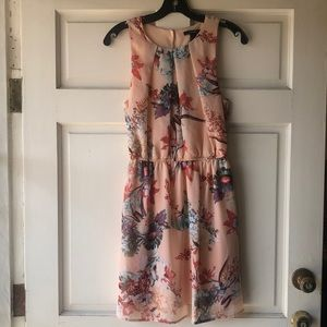 Forever21 Peach Floral Sleeveless Dress Size S